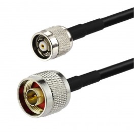 N male to TNCrev UHF cable RG58 3 mt